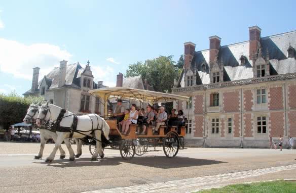 Balade en calèche depuis le Château Royal de Blois ©CDT41-C.Bioré