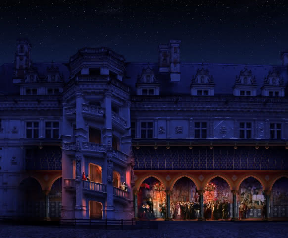 Château Royal de Blois - nouveau spectacle son et lumière - Louis XII ©Cosmo AV - Etats généraux ©Cosmo AV