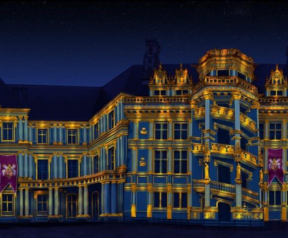 Château Royal de Blois - nouveau spectacle son et lumière - Louis XII ©Cosmo AV