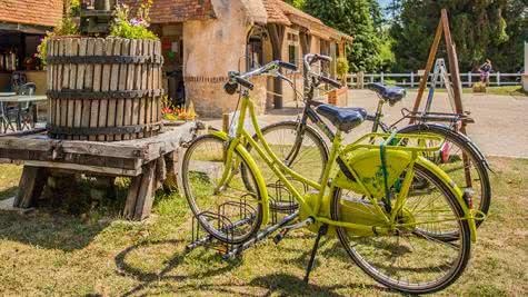 Val de Loire Loir-et-Cher Tourisme - Location de vélos au camping Sites et Paysages Les Saules de Cheverny ©Kinaphoto