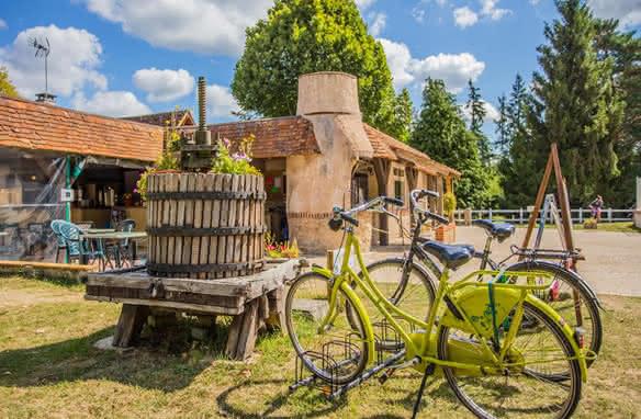 Val de Loire Loir-et-Cher Tourisme - Location et vacances à vélos au camping Sites et Paysages Les Saules de Cheverny ©Kinaphoto