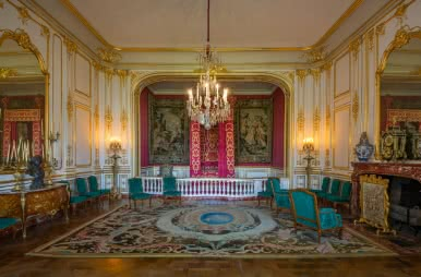 Chambre de parade du château de Chambord ⒸLéonard de Serres