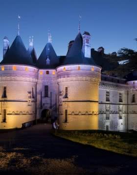 Château de Chaumont-sur-Loire - Visite des châteaux de la Loire de nuit ©DR