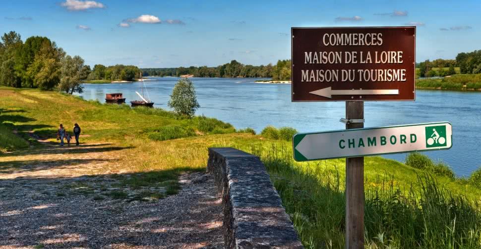 La Loire à Saint-Dyé-sur-Loire et les circuits de la Loire à Vélo @L.Alvarez