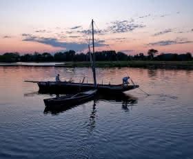 La Loire au crépuscule à Saint-Dyé-sur-Loire et le Port de Chambord @L.Alvarez..