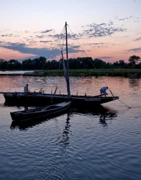 La Loire à Saint-Dyé-sur-Loire et le Port de Chambord @L.Alvarez