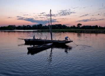 La Loire au crépuscule à Saint-Dyé-sur-Loire et le Port de Chambord @L.Alvarez