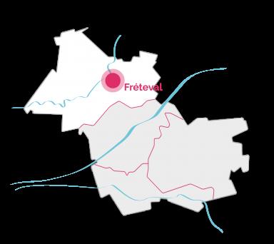 VDL - Carte - Rocheux-Freteval