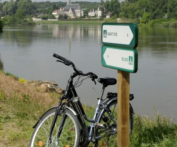 Vacances à vélo en Loir-et-Cher - Vue sur Cour-sur-Loire depuis les itinéraire Loire à Vélo à Montlivault - Itinérance douce autour de Blois ©JDAMASE-CRT-CENTRE-VAL-DE-LOIRE