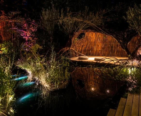 Visite des châteaux de la Loire de nuit - es jardins de lumière du Festival des Jardins de Chaumont-sur-Loire - Vacances et découvertes en Loir-et-Cher Val de Loire ©MirPhoto-ADT41