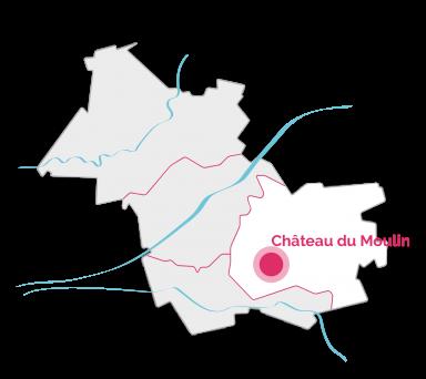 Carte du Château du Moulin en Sologne