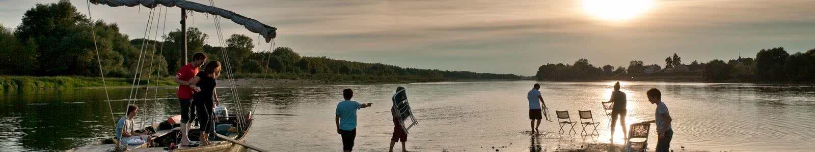 Balade sur la Loire au crépuscule avec l'association Milière Raboton - Chaumont-sur-Loire en Loir-et-Cher Val de Loire - Vacances en famille ou escapade amoureuse - 20 ans du classement Unesco du Val de Loire