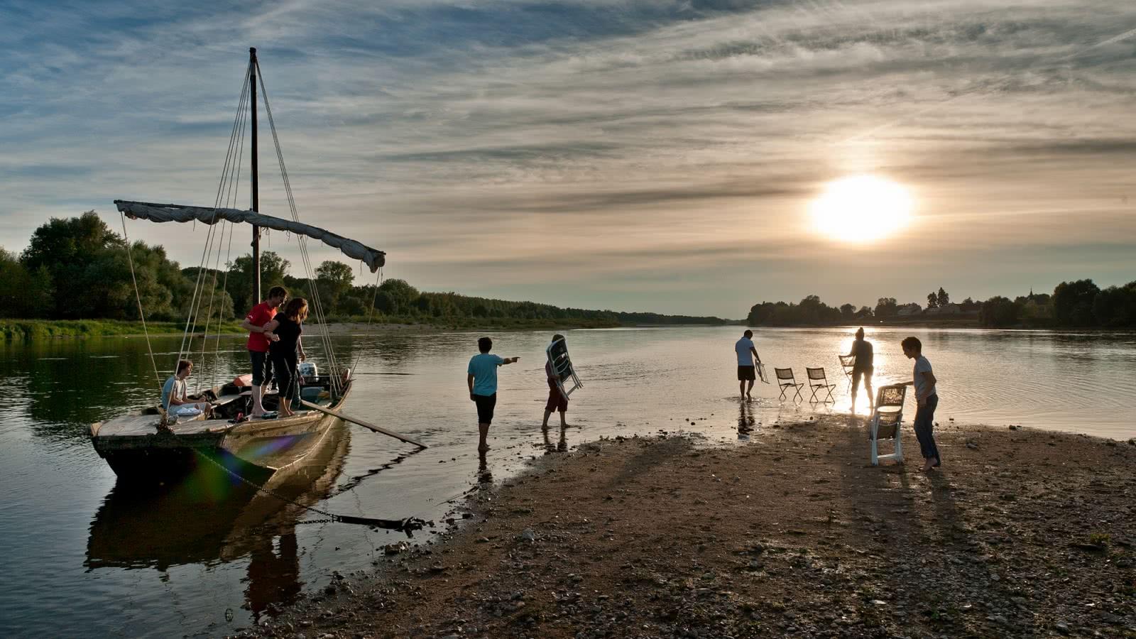 Balade sur la Loire au crépuscule avec l'association Milière Raboton - Chaumont-sur-Loire en Loir-et-Cher Val de Loire - Vacances en famille ou escapade amoureuse