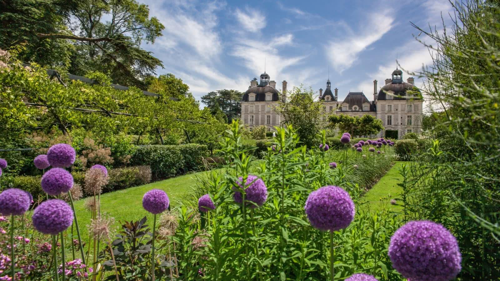 Château de Cheverny - Jardins de tulipes - Vacances en Loir-et-Cher Val de Loire ©Digikode