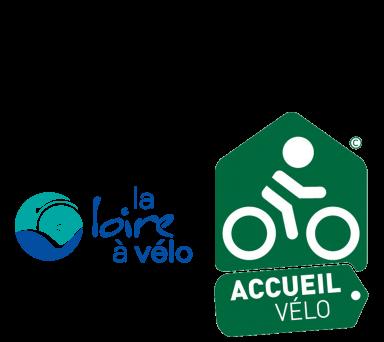 Logos Loire à Vélo et Accueil Vélo en Loir-et-Cher Val de Loire