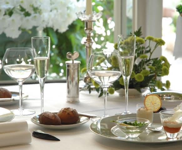Table d'un restaurant en Loir-et-Cher