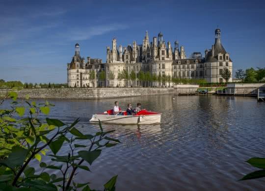 Château de chambord barque