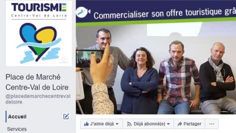 Page facebook place de marché