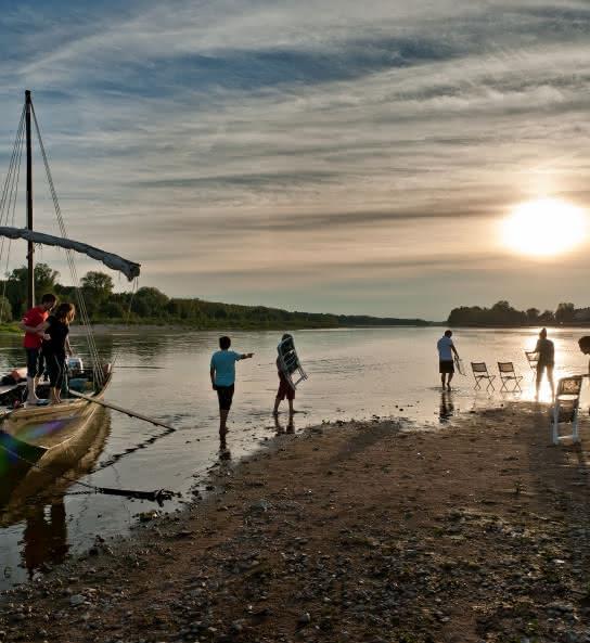 Balade en bateau traditionnel sur la Loire