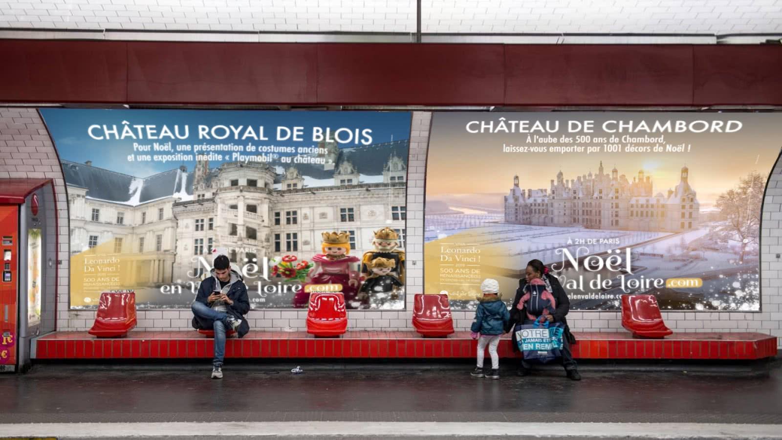 Provoyage - campagne Noël en Val de Loire et Loir-et-Cher 2018 METRO