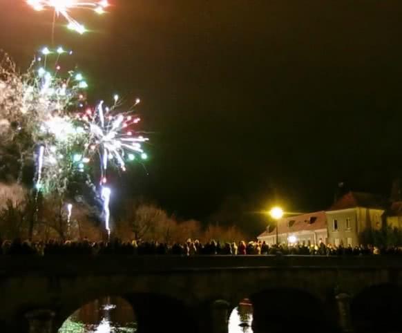 Feu d'artifice de Noël à Romorantin, capitale de la Sologne ©Nouvelle République