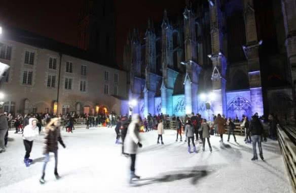 Abbaye on Ice - Les vacances de Noël en loir-et-Cher Val de Loire ©aveillithcpv