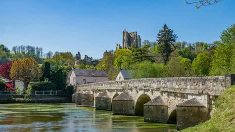Lavardin vallée du Loir en Loir etcher