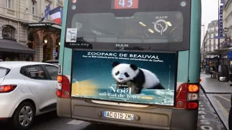 Provoyage - Campagne Noël en Val de Loire - Arrières de bus parisiens