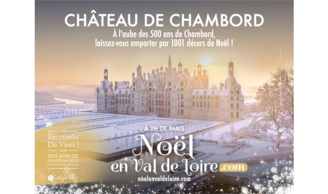 Provoyage - Campagne Noël en Val de Loire et Loir-et-Cher - Château de Chambord sous la neige