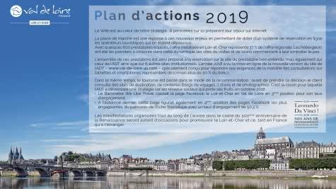 Plan d'actions 2019 de l'Agence de Développement Touristique de Loir-et-Cher en Val de Loire