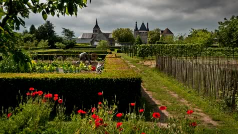 Château de Talcy et ses jardins du Val de Loire Loir-et-Cher ©Laurent Alvarez - Conseil-Départemental 41