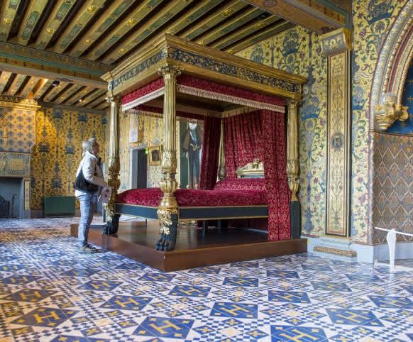 Autour de Blois - Château Royal de Blois - la chambre du Roi - vacances royales autour de Blois ©Cyril Chigot - Conseil départemental 41