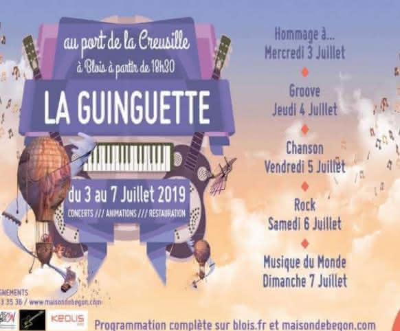 idées de sorties de Juillet en Loir-et-Cher - guinguette à la creusille