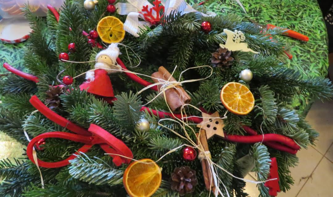Couronne de Noël - Les Ateliers de Catherine - Art floral en Sologne ©Les Ateliers de Catherine