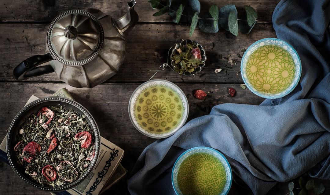 Thé vert bio - Fraise basilic - Thés et tisanes Emile Auté collection Neus et les Enfants Sauvages ©Florence Fouché