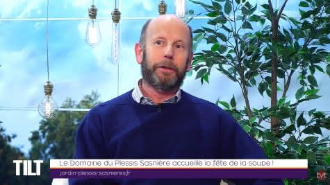 Lygie Rothon TV Tours - Emission TILT - La Fête de la Soupe au Jardin Remarquable du Plessis Sasnières