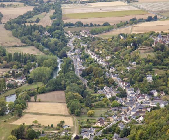 Trôo vue du ciel - vacances insolites en Loir-et-Cher Val de Loire ©4Vents-ADT41