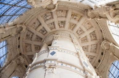 Château de Chambord - Escalier double révolution ©-DnC-Photo-Sophie-Lloyd.-Ts-droits-jusquà-avril-2024