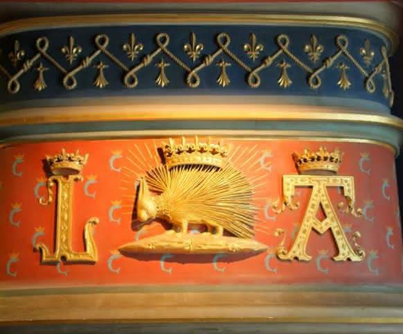 Château royal de Blois - Emblème Louis XII Porc épique - Les châteaux de la Loire de Loir-et-Cher