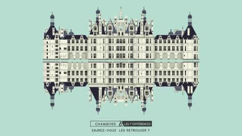 Iconys - 7 différences Château de Chambord - Vacances famille en Loir-et-Cher