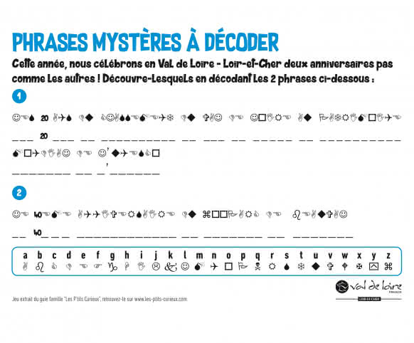 Jeu Petits Curieux - Phrase mystère