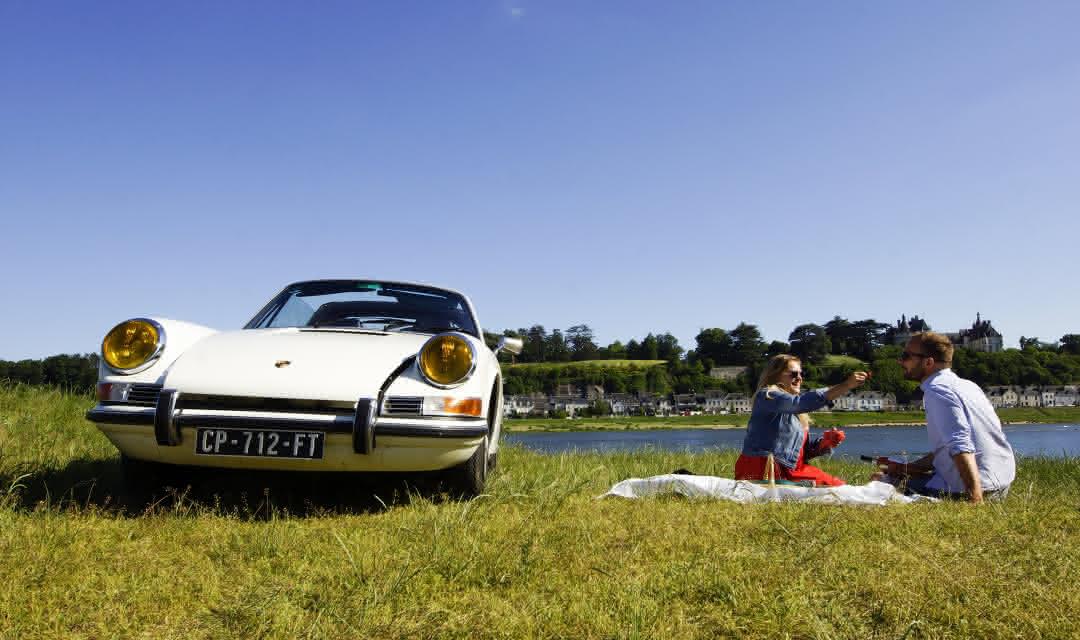 Balade en Porsche 912 sur les bords de Loire avec Cockpit ©Alexandre Roubalay