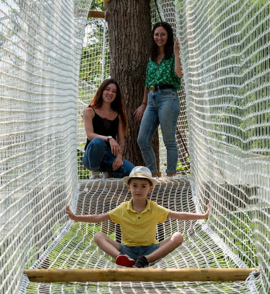 Parcours de filets dans les arbres - Loisirs Loire Valley - Vacances en famille en Loir-et-Cher Val de Loire© Studio Mir-ADT41