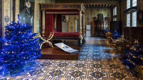 Les décorations de Noël au château royal