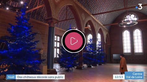 France 3 - Des châteaux décorés pour Noël sans public en Loir-et-Cher Val de Loire