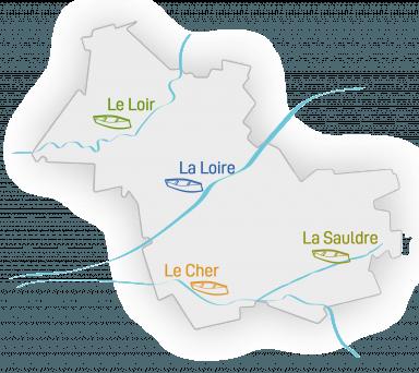carte rivières canoës loir-et-Cher