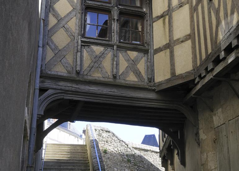 Les rues secrètes autour du château royal de Blois