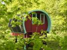 Camping L'heureux hasard, roulottes, boheme, val de Loire