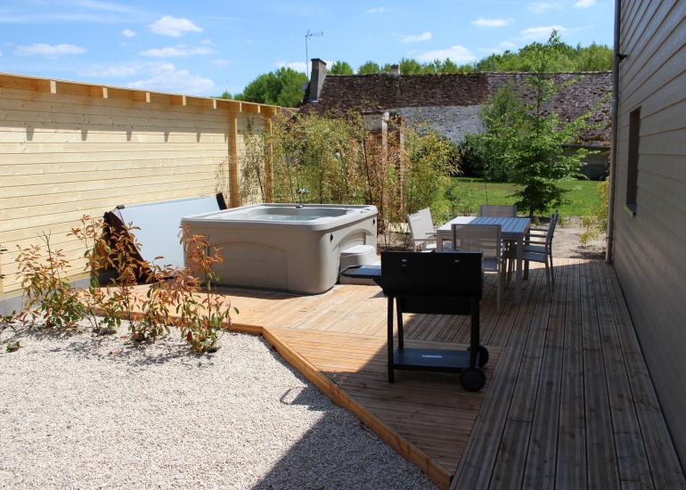 terrasse avec spa