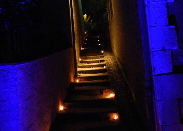 Nuit des lumières à Trôo (cité troglodytique)